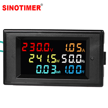 AC Power LCD Digital Voltage Current Power Voltmeter Ammeter KWH Panel Meter Electric Energy Consumption Monitors 100A 220V 380V ac digital display 100a power monitor voltmeter ammeter lcd voltage current watt power energy meter