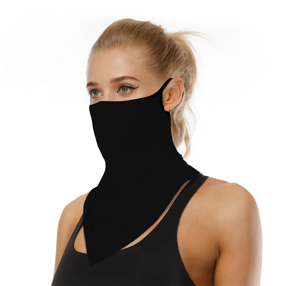 NEW Outdoor Windproof Triangle Face Shield Breathable Bandana Scarf Cycling Neck Gaiter Cover Solid Green Black Triangle Scarves