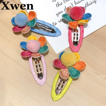 [Xwen] 2021 New Children Colorful Hairpin Girls Floral Color BB Clip Baby Headdress Fashion Hair Accessories OH1865