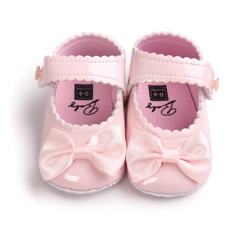 Infant Child First Walker Multicolor Bowknot Reflective Tape Classic Princess Baby Shoes Soft Bottom Anti-slip Toddler Shoes
