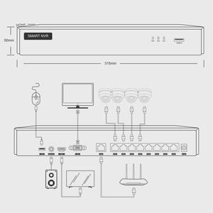 Image 4 - 4ch 5MP POE PTZ מערכת ערכת H.265 אבטחת CCTV 8ch NVR מקורה עמיד למים 2.8 12mm 4X אופטי זום IP מצלמה מעקב וידאו