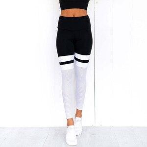 Image 5 - Rooftrellen 8% elastano gótico malha inserção leggings gradiente leggings mulheres leggings de fitness calças casuais novo retalhos legging