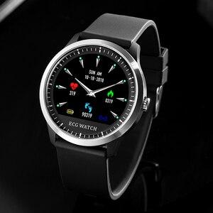 Image 3 - LIGE reloj inteligente deportivo de hombre, reloj inteligente deportivo con control del ritmo cardíaco y de la presión sanguínea, y pantalla OLED