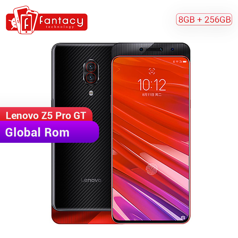 Global ROM Lenovo Z5 Pro GT Snapdragon 855 Smartphone 8GB RAM 256GB ROM 6.39'' In-Screen Fingerprint Android 24MP Cameras