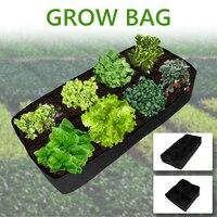 성장 가방 패브릭 정원 식물 침대 야채 Plante 묘목 갤런 나무 손잡이 4/8 홀 직사각형 컨테이너 심기 가방|크롤 백|홈 & 가든 -