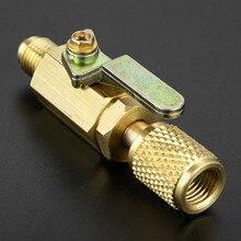 """Outils de réfrigération de climatisation automatique robinet à tournant sphérique droit 1/4 """"adaptateur pivotant SAE pour réfrigérant A/C R134a R410a R12"""