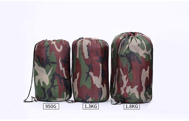 exército militar camuflagem sacos de dormir ao