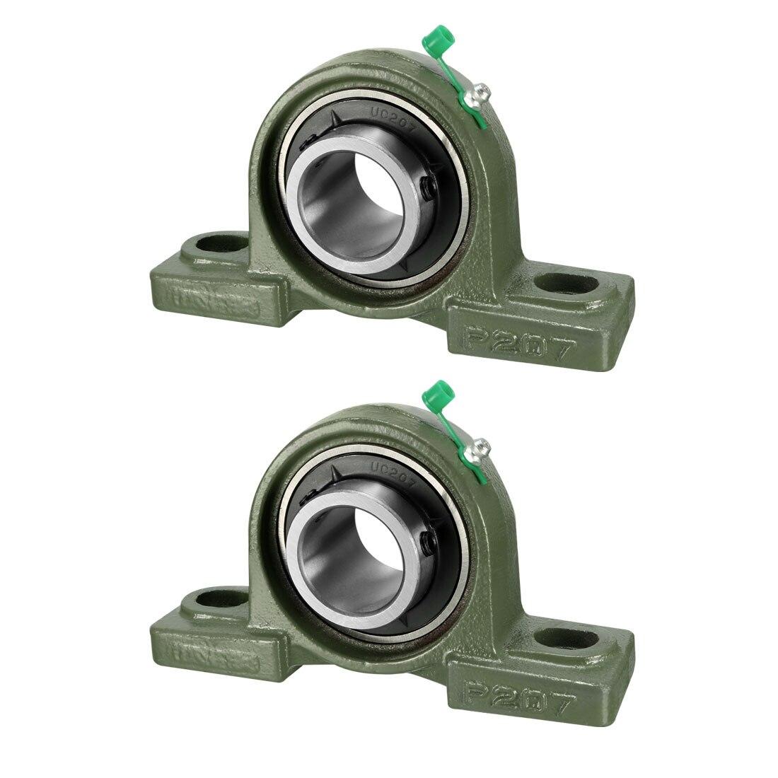 Uxcell 1pcs 2pcs UCP Pillow Block Bearing 12mm/15mm/17mm/20mm/25mm/30mm Bore Diameter Cast Iron/Chrome Steel Set Screw Lock