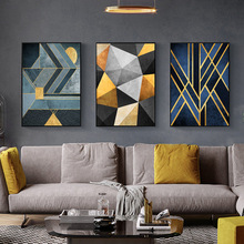 Nordic Abstract Geometry Home Decor Nordic Canvas Painting Wall Art Modern Luxury Art Decor Posters and Prints for Living Room modern abstract landscape picture home decor nordic canvas painting wall art mountain sunrise prints and posters for living room