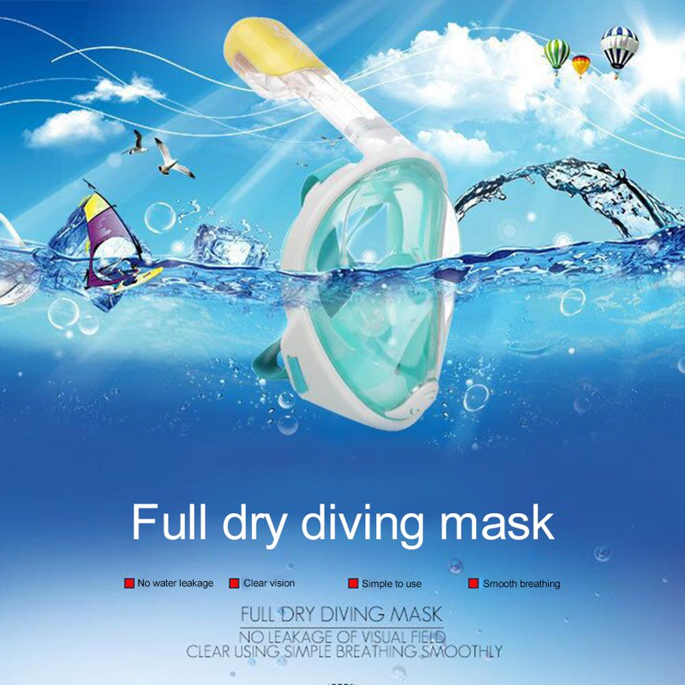 New Diving Mask Snorkeling Set Seaside Silicone Full Face Diving Mask Respiratory Masks Safe and Waterproof Swimming Equipment(China)