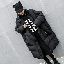 Bat type Loose Warm Winter jacket women Black Hooded Down Cotton Parka High Quality overSize Coat Chaqueta Mujer Invierno MY130
