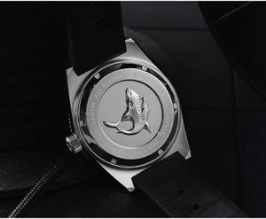 Image 5 - 62MAS גברים אוטומטי שעון נירוסטה שעון צלילה 200m מים עמיד קרמיקה לוח סן מרטין אופנה שעוני יד NH35