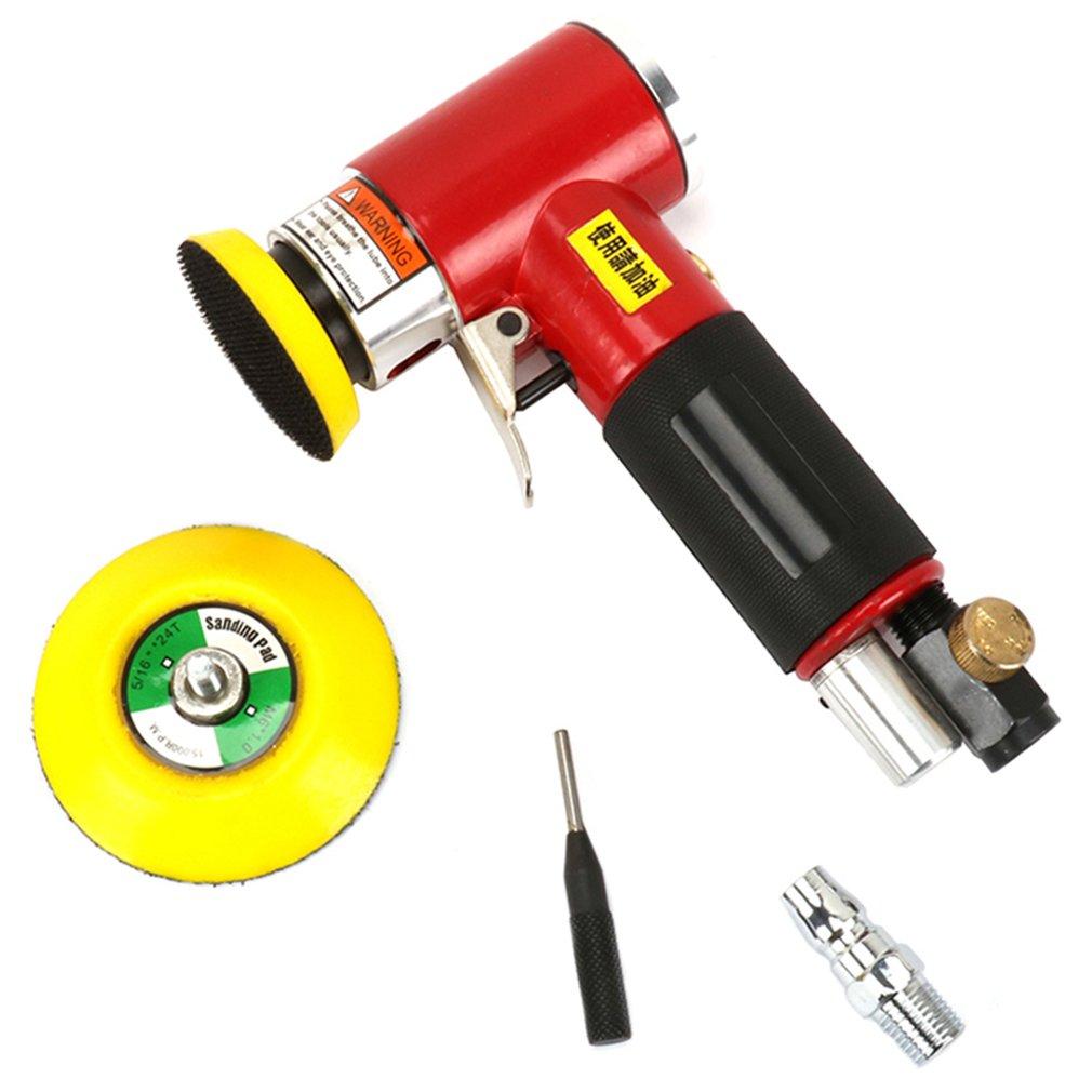 ミニ偏心エアーアングルサンダーグラインダーポリッシャー Elecentric 空気圧研磨研削盤 2 インチ 3 インチサンディングパッド