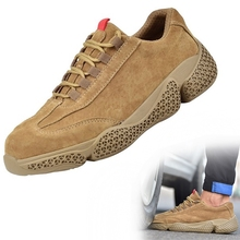 36~46 safety shoes Anti slip steel toe Wilderness Survival Anti smashing work safety boots #KDJ662