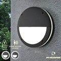 Европейские 12 Вт Современные Настенные Светильники наружные с радарным датчиком Ip65 водонепроницаемые наружные светодиодные настенные бра...