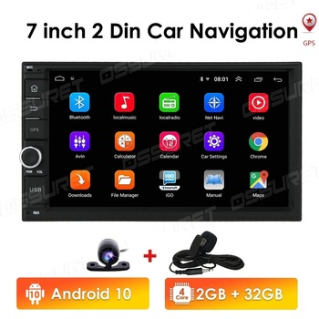 Car Radio 2 Din Android 10 Car Multimedia Player Autoradio 2din dvd Player For Volkswagen Nissan Hyundai Kia toyota CR-V NO DVD image