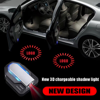 LED door Shadow welcome Light Laser Emblem Logo Lamps battery Charging Wireless Car Projection for Bmw F10 F30 Benz Audi Volks