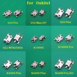 10Pcs/lot For Oukitel K6000 Plus K4000 K10000 Pro U22 U16 max U15 Pro U15S K8 Micro Usb Jack Socket Dock Charging Port Connector