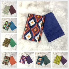 2+2 yards Chitenge Ankara Print Fabric Polyester Ghana Kente Wax African Kitenge Print Wax Fabric For Cloth AW30