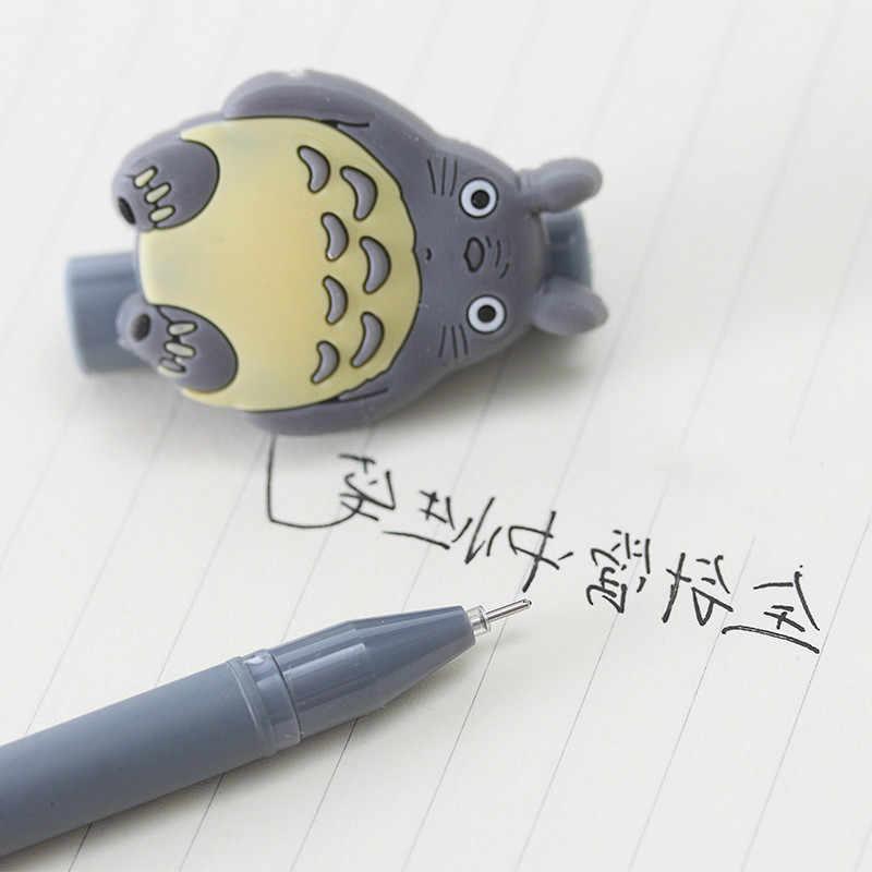 Caneta de gel criativa coreana, desenhos animados, cinza, gato, preto, neutra, material de escritório e escola