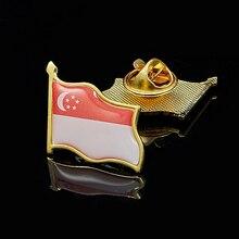 Tuxedo Brooch-Pin-Suit Flag Lapel Stick Corsage-Accessories National Singapore Exquisite
