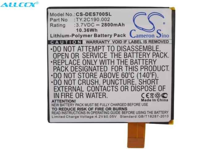 Cameron Sino 2800mAh Battery TY.2C190.002 for DELL Looking Glass  Opus One  Streak 7|Tablet Batteries & Backup Power| |  - title=