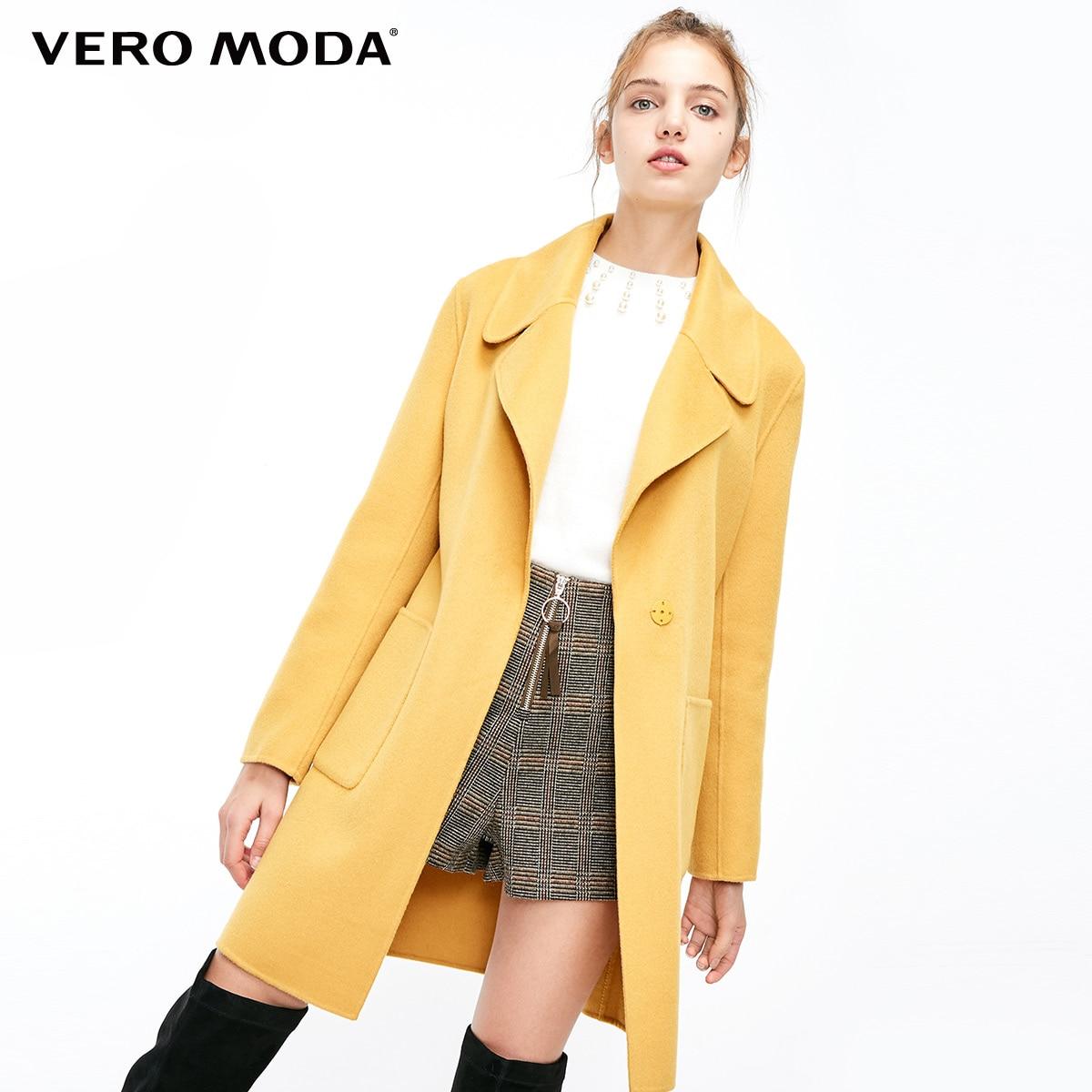 Vero Moda Women's Autumn 61% Wool Pure Simple Coat Wool Coat | 318327528