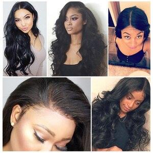 Image 5 - גוף גל תחרה מול שיער טבעי פאות לנשים שחורות PrePlucked קו שיער טבעי עם תינוק שיער RXY 13x4 ברזילאי רמי שיער פאה