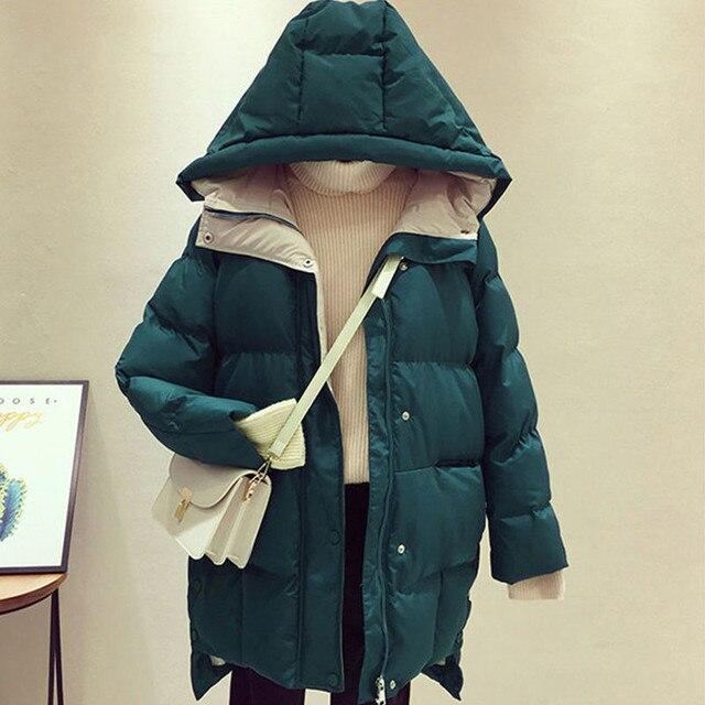 2020 Hiver femmes veste longue à capuche coton rembourré Femme Manteau haute qualité vêtements d'extérieur chauds femmes Parka Manteau Femme Hiver P787 6