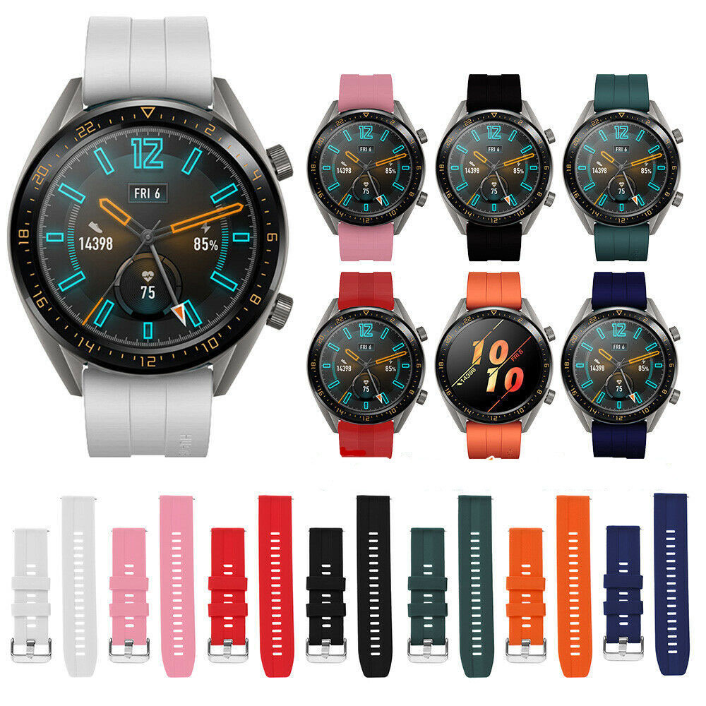 Samsung Galaxy Silicone Sports Watch For Gear S3 Frontier Strap 46/42mm Strap 22mm 20mmSilicone Strap Bracelet Huawei Watch GTS3