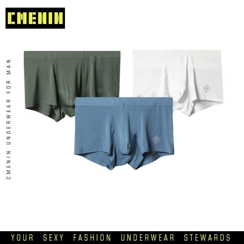 3pcs/lot Men Underwear Seamless Men Boxers Short Male Panties Modal Soft Breathable Boxershort Underpants Comfortable AD308