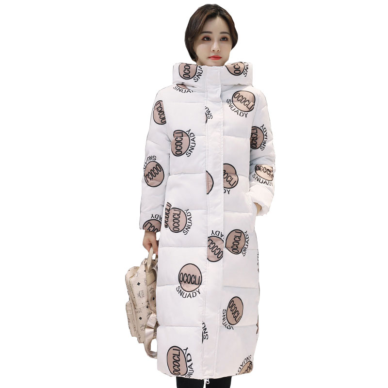 Hooded Winter Down Coat Jacket Long Warm Slim Women Cotton-padded Parkas Wadded Outwear Casaco Feminino Abrigos Mujer Invierno