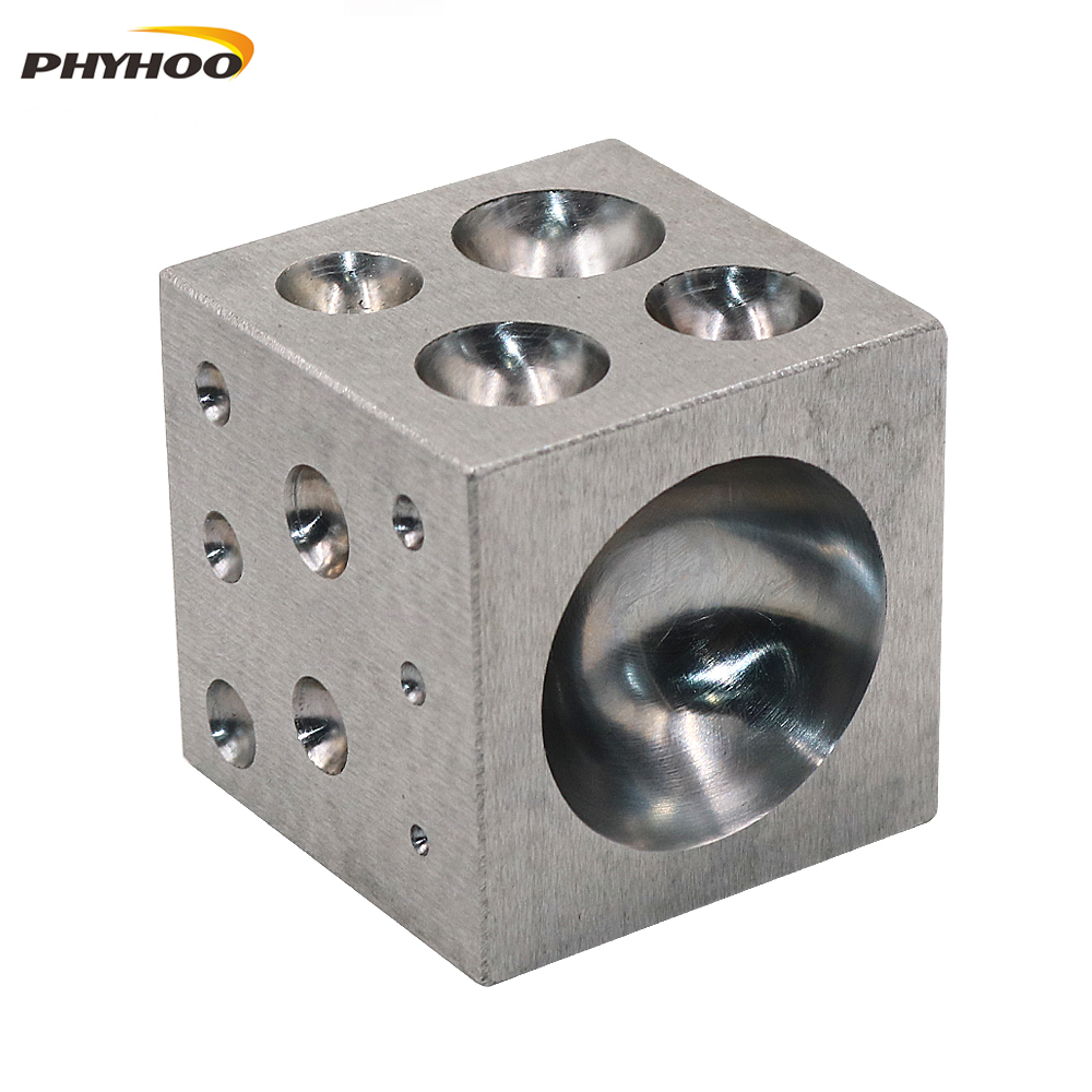 Dapping Block Square With Polished High Carbon Steel Cavities Bell Making Punching Tools, Jewelry Making Tools