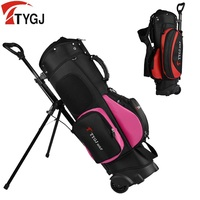 Men/Women Lightweight Golf Stand Bag Portable Tripod Bag Shoulder Strap with Wheel Sport Supplies Golf Bag Hold 13 Clubs