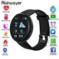 D18 Bluetooth Smart Uhr Männer Frauen Blut Druck Smartwatch Sport Tracker Pedometer 116 Plus Smart Uhren Für Android IOS A2