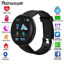 D18 Bluetooth Smart Watch Men Women Blood Pressure Smartwatch Sport Tracker Pedo