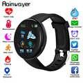 D18 bluetooth relógio inteligente das mulheres dos homens pressão arterial smartwatch esporte rastreador pedômetro 116 mais relógios inteligentes para android ios a2