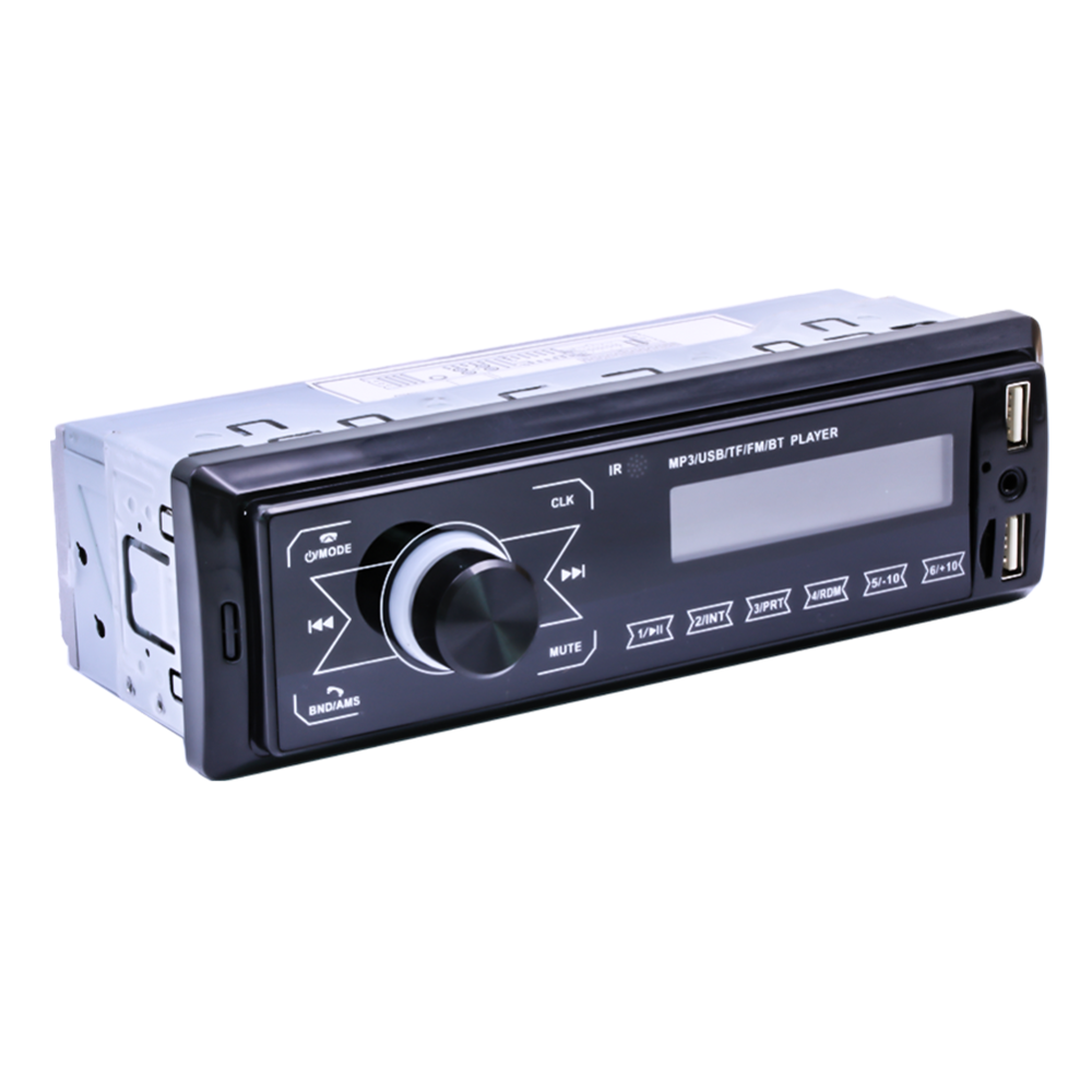 autoradio 1 Din Bluetooth Car Stereo MP3 Player 7 Color Light Touch Keys Support DC 12V AUX USB U-Disk FM Radio Station in-dash image