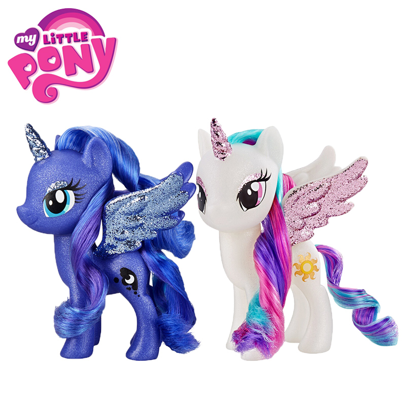 15CM My Little Pony Toys Royal Princess Luna Princess Celestia Sparkles PVC Action Figure Collectible Model Dolls