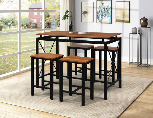 Kitchen Furnitures Modern Wooden Dining Furnitures Nordic Style Dining Table With Four Chairs Set Dining Chair Restaurant Chairs 1