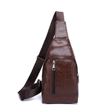 Trendy Men PU Leather Chest Bag New Arrival Fashion Nylon Diagonal Crossbody Sling Shoulder for
