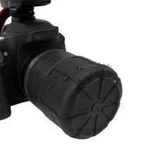 лучшая цена Useful DSLR Camera Silicone Lens Cover Universal Protector Waterproof Anti-Dust Caps Black