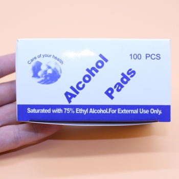 100Tablets/Pack 75% Alcohol Wipes Padsl Hand Sanitizer Antibacterial Portable Hand Towel Disinfection Wipes Antiseptic Cleanser