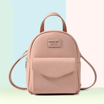Mini Backpack Casual Backpacks For School Teenagers Girls Solid Soft Women's Backpack Preppy Style Bag Zipper Hasp Backpacks Bag
