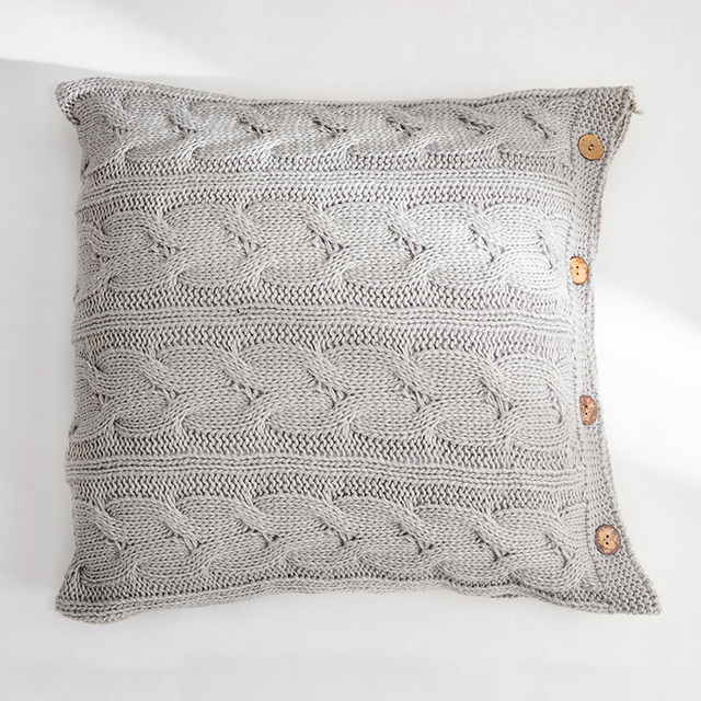 Cream Nordic Knitted Cushion Covers 3