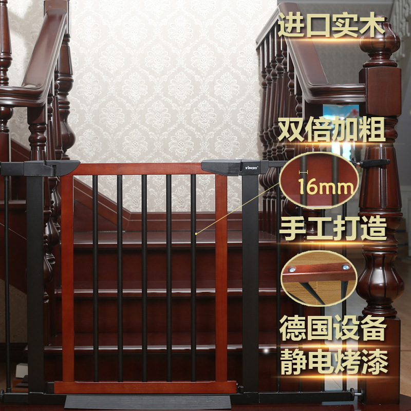 Fence Pet Dog Door Gate Fence Solid Wood Indoor Fence Isolation Door General Iron And Wood 1009-1 Non-punching B Baby Fence