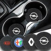 2 uds coche antideslizante cojín taza placa montaña rusa para Audi TT A1 A3 A4 B5 B6 B7 A5 A6 Q5 C5 C6 C7 A7 J8 B8 A8 D3 D4 Q3 42 A4L Coche Gadgets