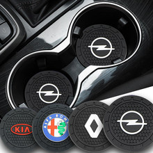 Posavasos antideslizante para coche, insignia para VW Volkswagen Passat B6 B7 B8 B9 CC Golf 4 5 6 7 Tiguan R Line 2005-2020, 2 uds.