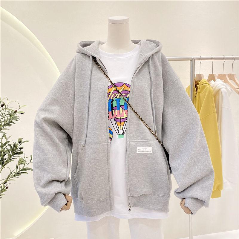 BiggOrange размера плюс пуловеры толстовки для женщин в виде коричнево-синей толстовка на молнии летняя куртка большого размера, детская зимняя ...