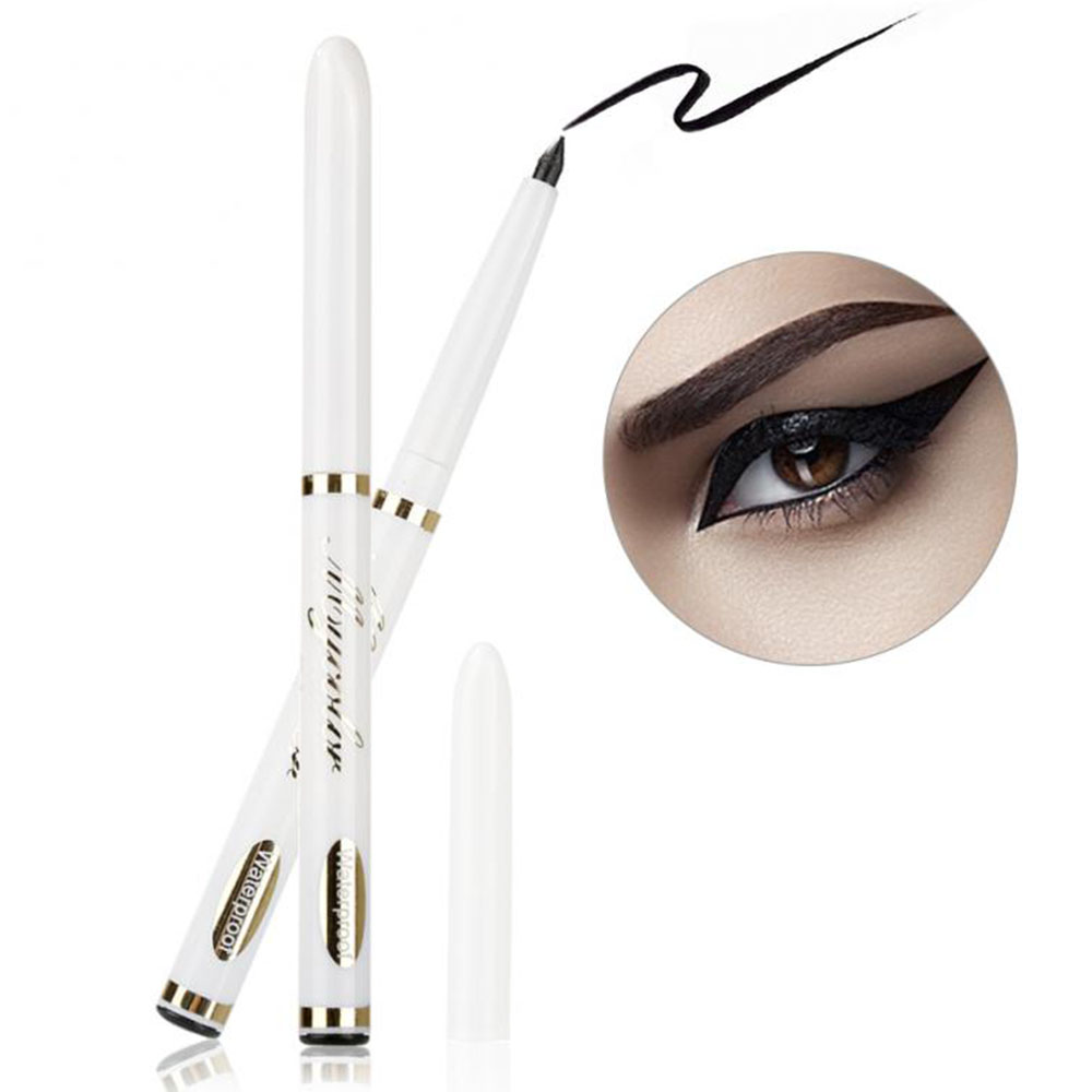 1PCS Classic Black Eyeliner Telescopic Waterproof Durable Automatically Rotate Eyebrow Pencil Eyeliner Beauty Tool Makeup Lady